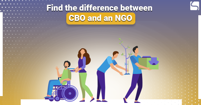 Find the difference between CBO and an NGO