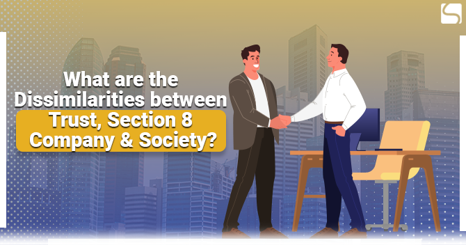 What are the Dissimilarities between Trust, Section 8 Company & Society?