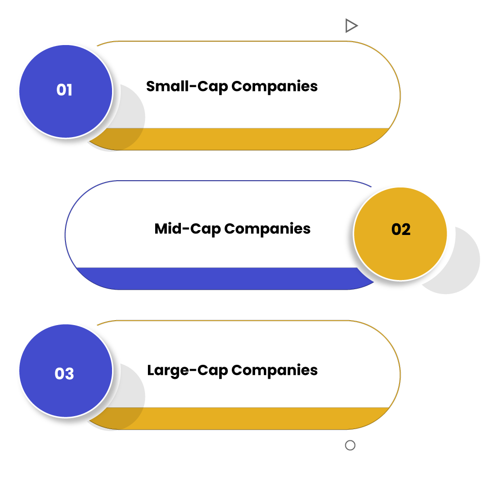 As per Market Capitalisation, different categories of companies