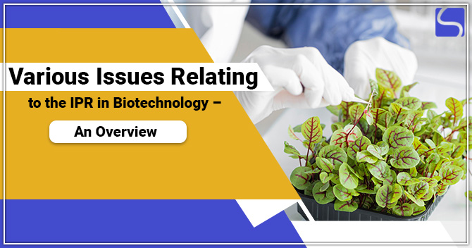 Various Issues Relating to the IPR in Biotechnology – An Overview