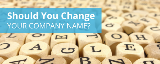 Why is Change in Company Name Required