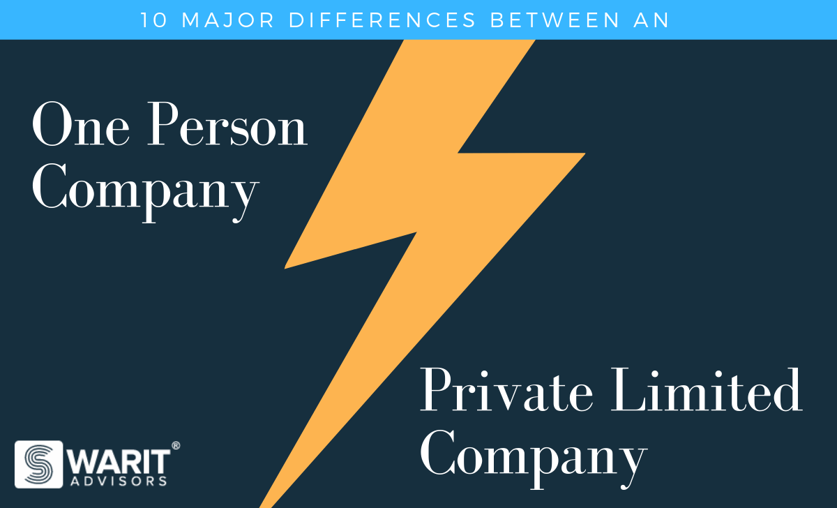 Difference between One Person Company and Private Limited Company