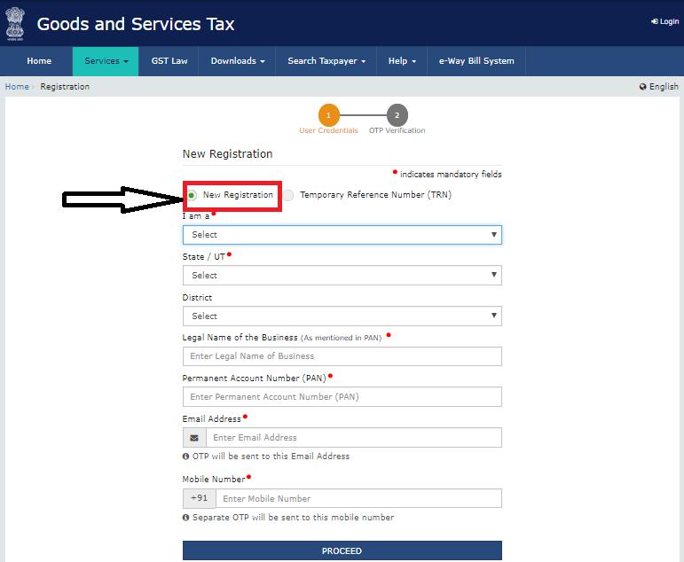 New registration GST