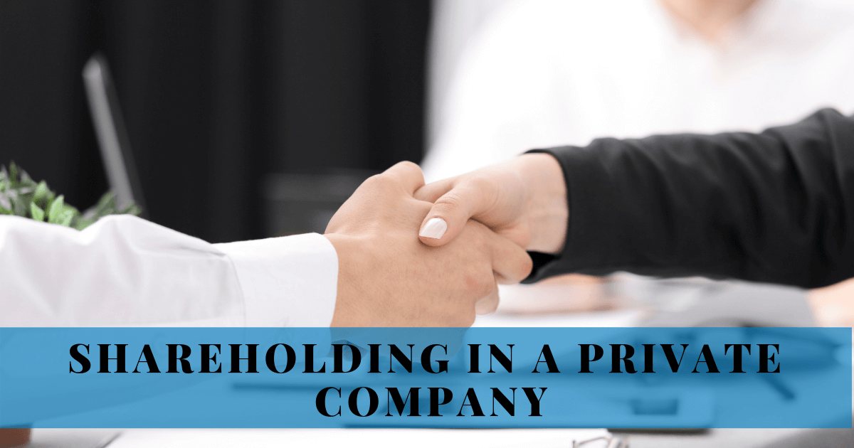SHAREHOLDING IN A PRIVATE COMPANY