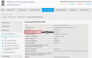 Company registeration number online
