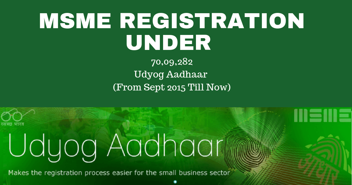 MSME Registration under Udyog Aadhar