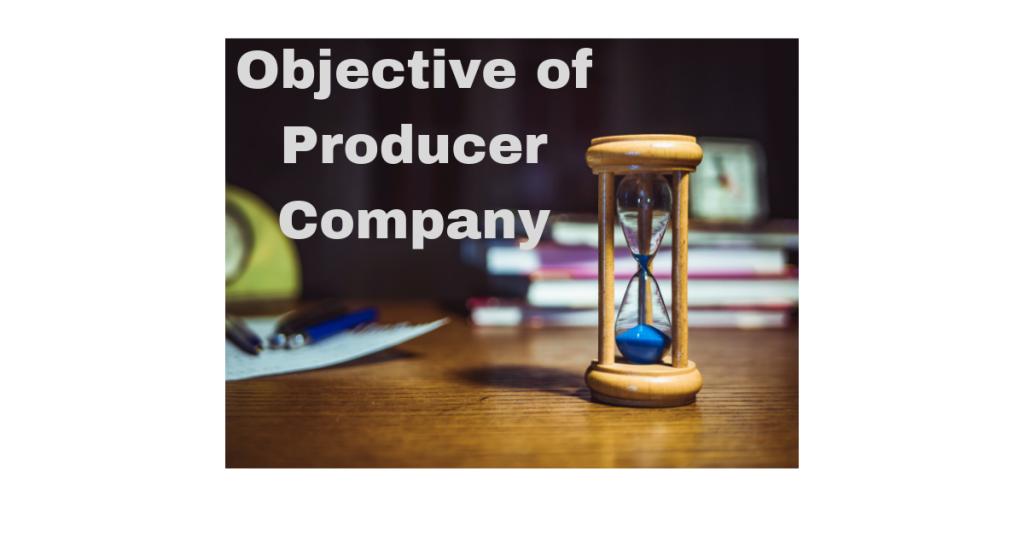 objective of producer company