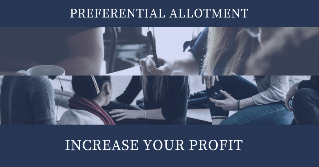 How Preferential Allotment can Increase your Profit?