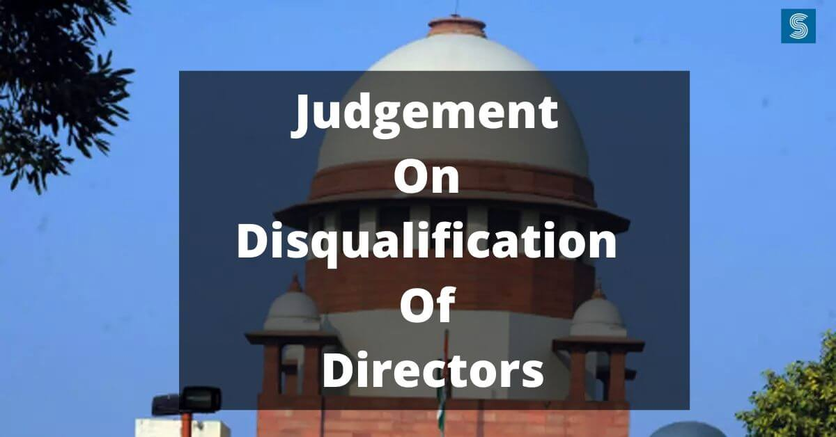 judgement on disqualification of directors