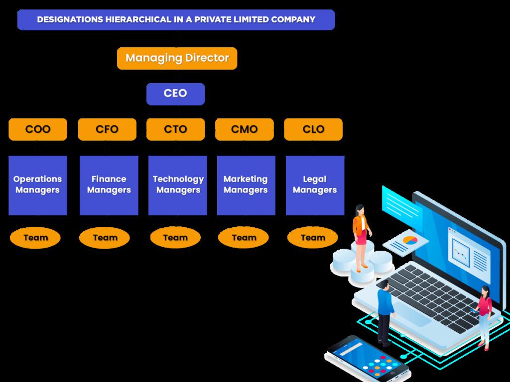 designations in a Private Company