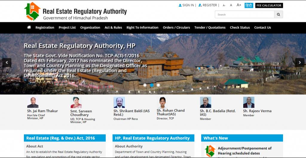 official hp rera agent registration