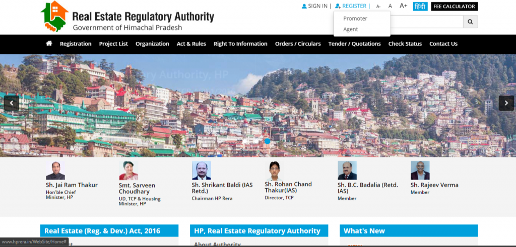 hp rera agent registration online
