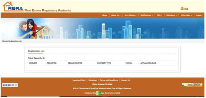 Withdraw Project Goa RERA