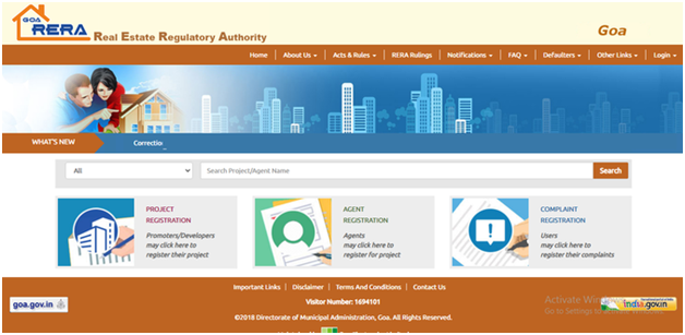 Visit the Official rera Website