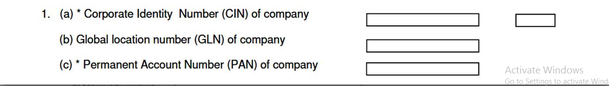 Fill Company Details