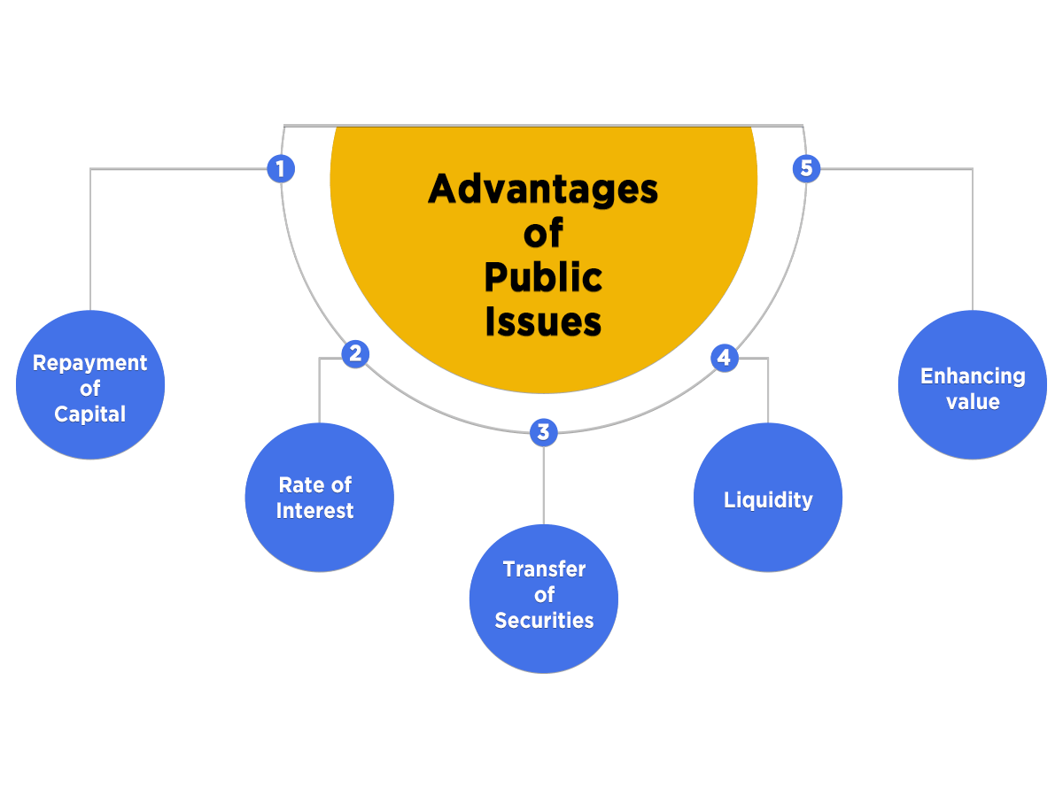 advantages of public issues