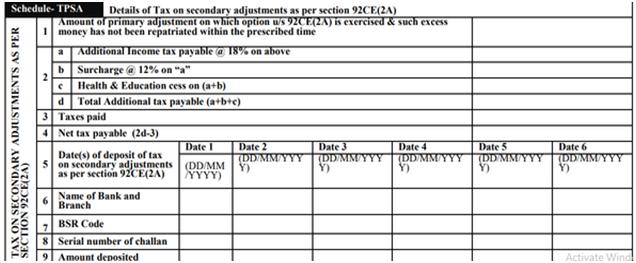Schedule TPSA