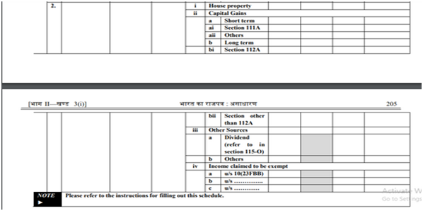 Schedule PTI
