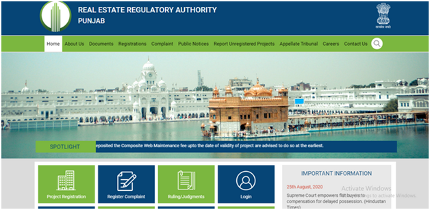 Visit the Official RERA Portal
