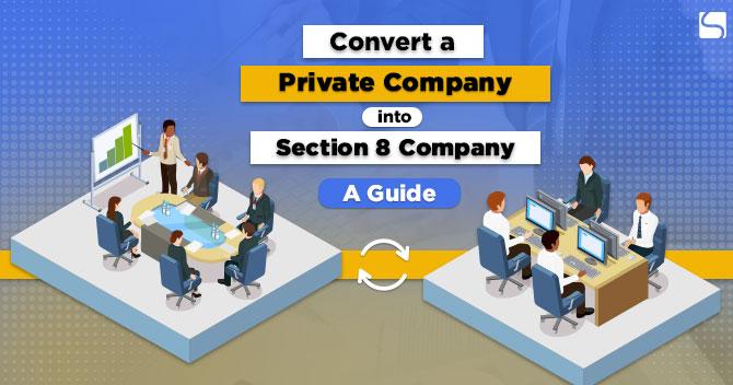 Convert a Private Company into Section 8 Company: A Guide
