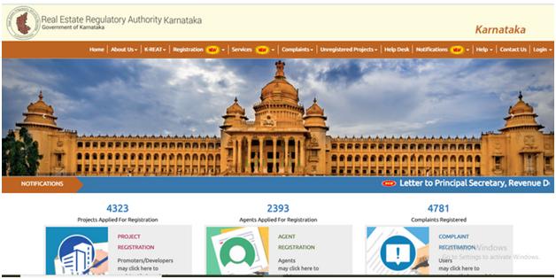 Official Karnataka RERA portal[