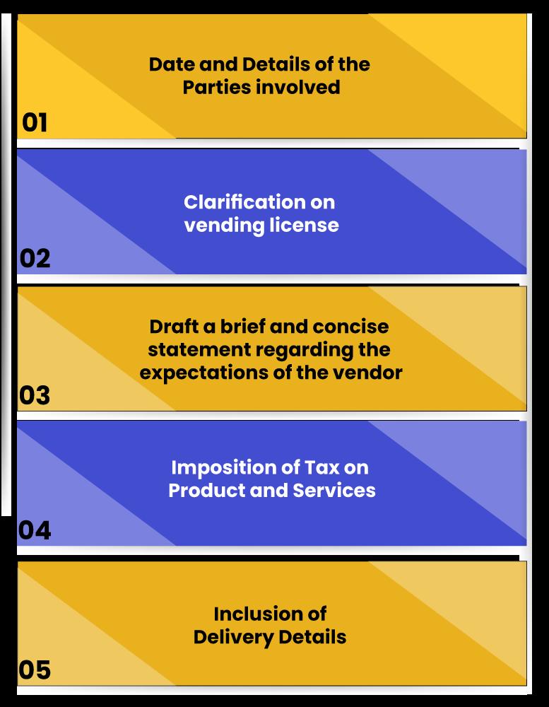 Vendor Agreement Key Requirements
