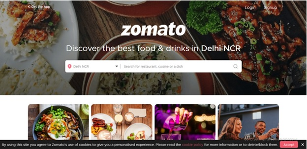 Official Website Zomato