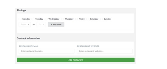 Other Details Regarding Restaurants
